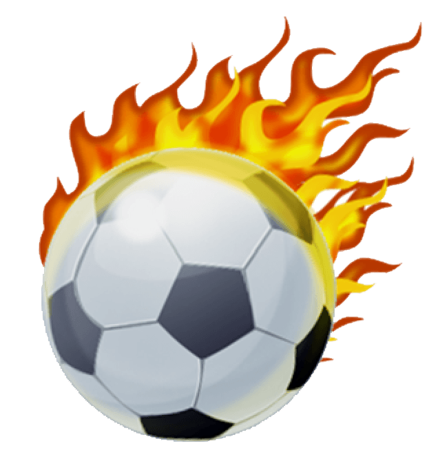Youth Soccer Ball with Flames