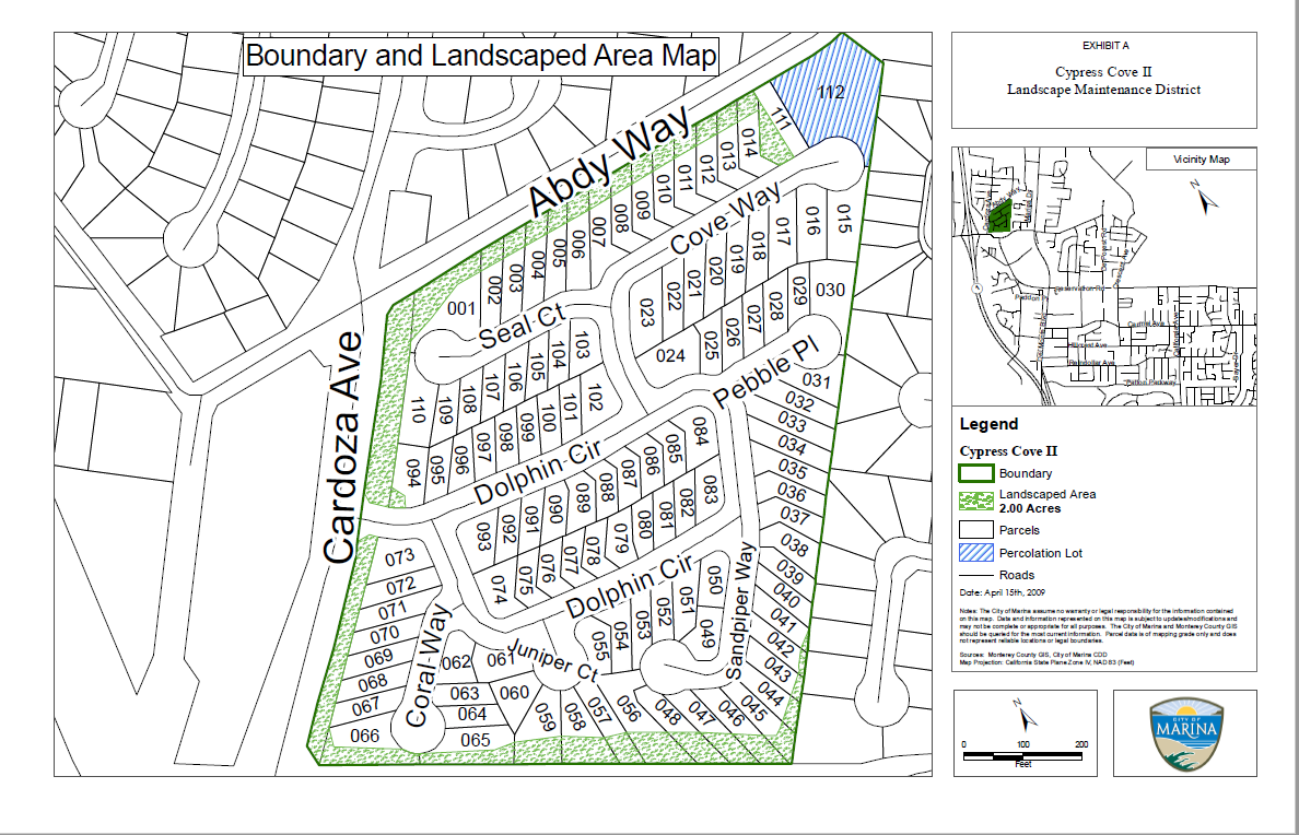 boundary and landscape area map