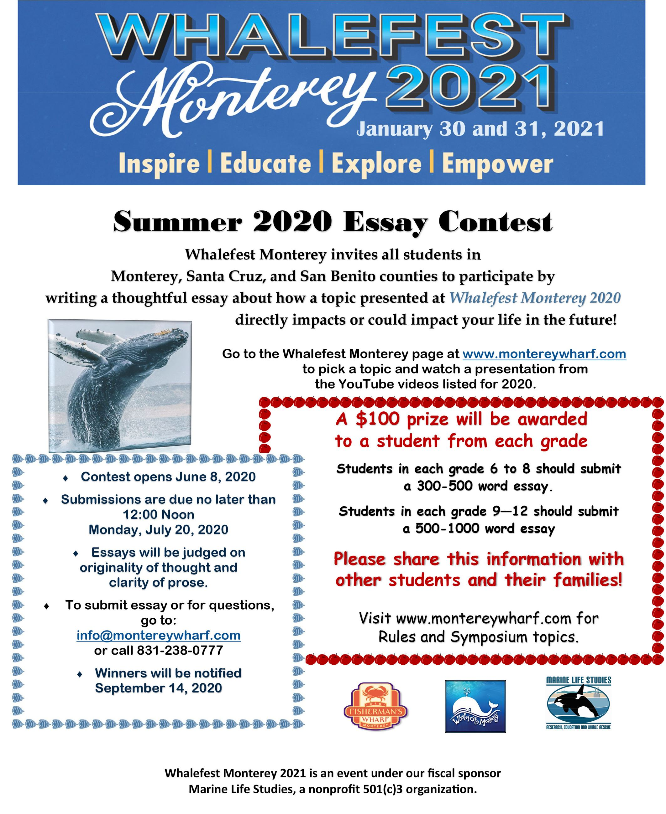 Whalefest Essay Contest