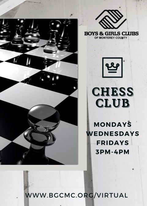 CHESS CLUB MONDAY WEDNESDAYS AND FRIDAYS